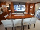 """Finished in high-gloss walnut, the boat presents extremely well, and the phrase """"like new"""" is very relevant."""