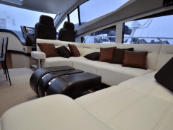 'LARA' has a stunning interior for guests to relax in after a day at sea