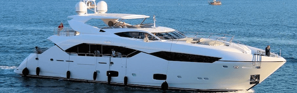 "Sunseeker 115 Sport Yacht ""ZOZO"", sold by Sunseeker London, spotted cruising in Gibraltar"