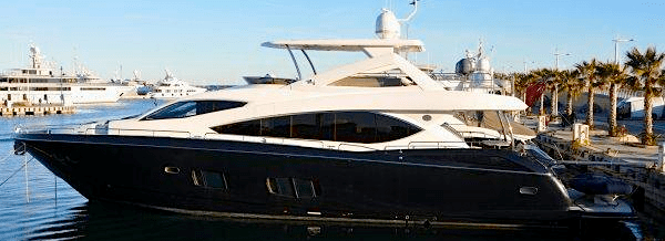 """Customised Sunseeker 88 Yacht """"VITA"""" listed by Sunseeker Cannes"""