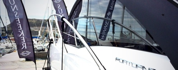 Sunseeker Portofino 40 exhibited at Portland Marina Boat Show and Festival