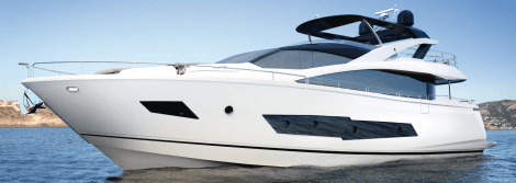 """Exclusive images of new Sunseeker 86 Yacht during interior """"mock-up"""" design phase"""