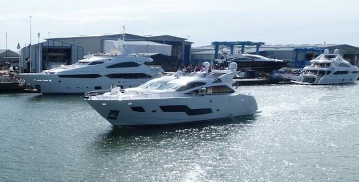 Sea trials a success for second Sunseeker 101 Sport Yacht