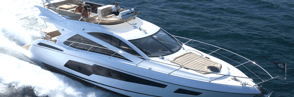 Sunseeker team with The White Company for unique Manhattan 55 interior styling