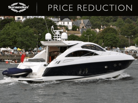 "Sunseeker Torquay have reduced the Sunseeker Predator 62 ""OPTIONS"" to £535,000 VAT paid"
