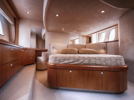 """The Manhattan 50 """"SARAH'S OF MONACO"""" offers luxury accommodation for 6 guests in 3 cabins plus 1 crew"""