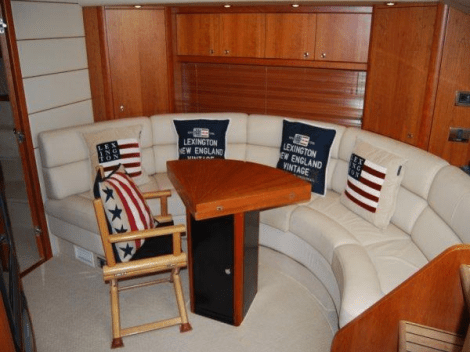 """An impeccable example of the 2-cabin sports cruiser, """"VOSS"""" is in pristine condition both inside and out"""