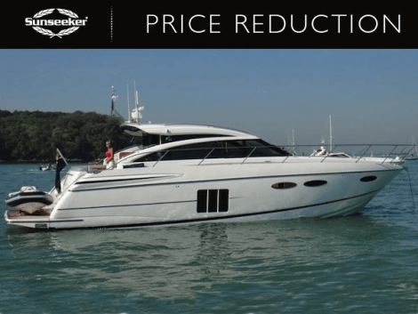 "Sunseeker Poole announce price reduction of Princess V52 ""ISHA COCO"""
