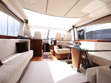 Light and airy accommodation is a feature onboard this stunning Princess V70
