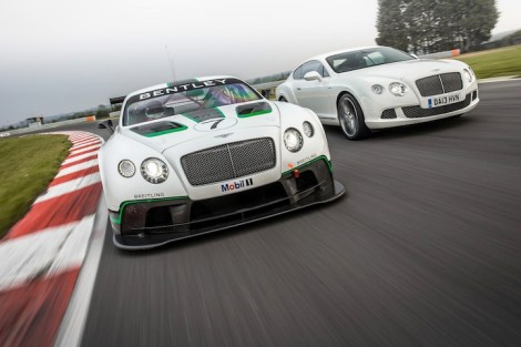 Models on display at the Bridgfords Prestige Magazine Launch included the Bentley M-Sport Racing Team's unique Continental GT3 (pictured left)