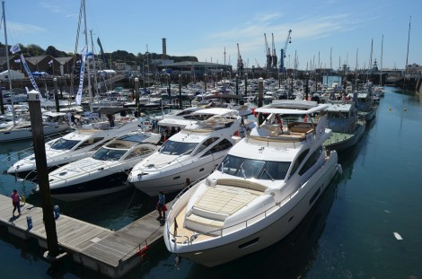 The Sunseeker display pictured at last year's Jersey Boat Show - a weekend full of sunshine and Sunseekers!