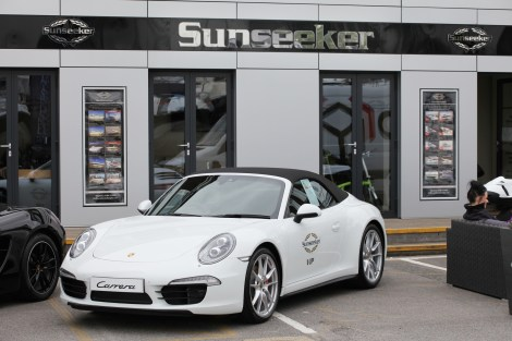 Sunseeker collaborated with a number of valued brand partners including Porsche Portsmouth who provided an array of luxury cars for the weekend