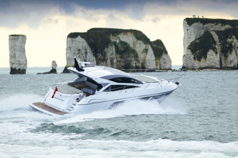 Information will be available on a range of Sunseeker yachts, including the new Predator 57 Photo: MBY