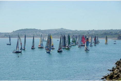 Torquay featured as one of the stages for the 2015 La Soltaire du Figaro yacht race Photo: Andy Styles
