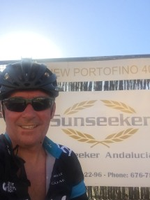 True to the Sunseeker brand, whilst travelling Chris still enjoys a cycle ride or two!