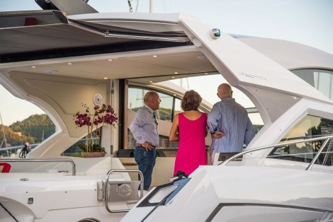 Guests exclusively viewing the Sunseeker 57 Predator
