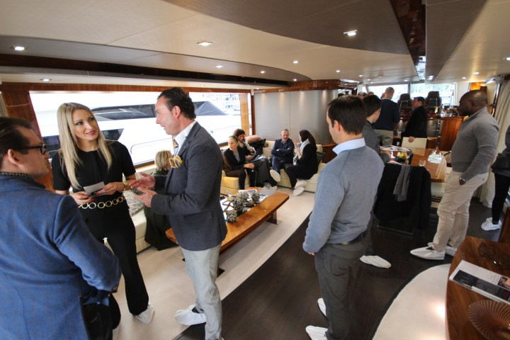 Sunseeker France host a Cote D'Azur networking party on board SPONTANEOUS