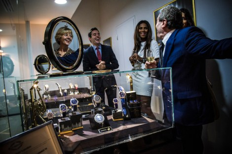 Guests enjoyed viewing the Backes & Strauss watches