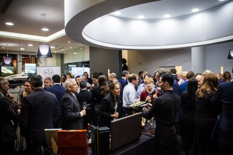 Around 200 guests enjoyed an evening at the Sunseeker London showroom including a unique wine tasting by Montevino