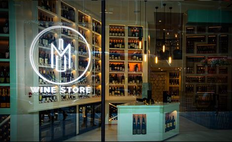 The store front of the M Wine Store