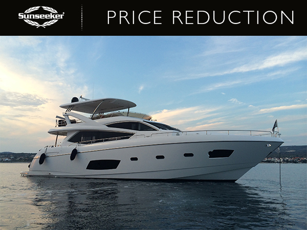 PRICE REDUCTION: 2013 Sunseeker Manhattan 73 reduced to £1,995,000