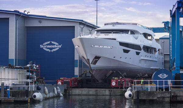 Hull No. 2: The 2nd 155 Yacht emerges from the Sunseeker Shipyard