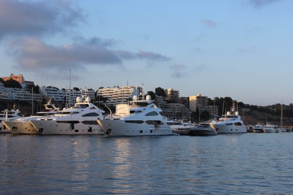 SPOTTED: Two Sunseeker 40 Metre Yachts and a Sunseeker 115 Sport Yacht berthed alongside eachother in Puerto Portals, Mallorca
