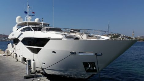 The Sunseeker 116 Yacht was looked after by the Sunseeker Turkey team and a member of Sunseeker International while at the marina