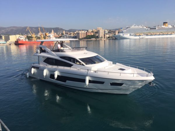 Sunseeker Mallorca announce the successful unloading of three Sunseeker boats in Mallorca, Spain