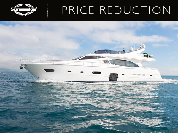 FURTHER PRICE REDUCTION: 2012 FERRETTI 750 REDUCED TO €1,750,000 EUR EX TAX