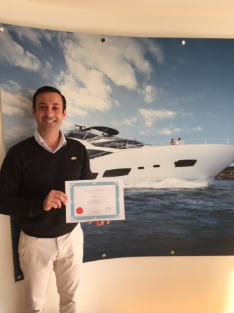 Alex Montane was announced Sunseeker London Groups Broker of the Month for January