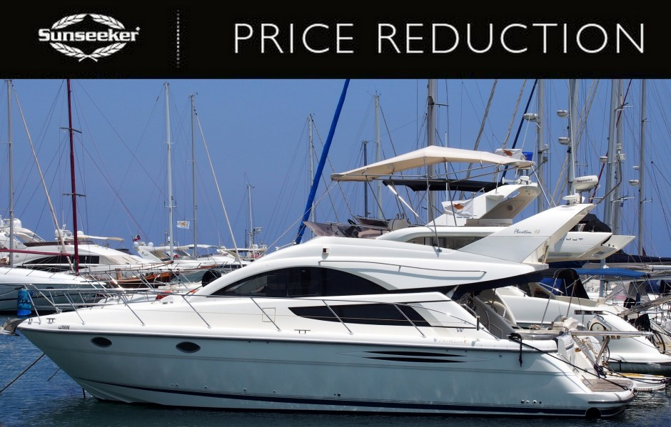 PRICE REDUCTION: Evros Symeonides, of Sunseeker Cyprus announces a fantastic price reduction on the Fairline Phantom 40, 'SEA FOX'