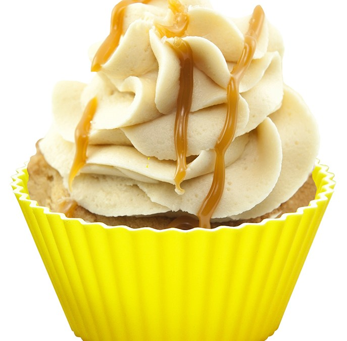 Banana Cupcakes with Caramel Frosting