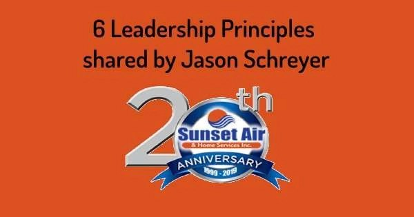 20th anniversary logo - Leadership principles - Fort Myers - Sunset Air and Home Services