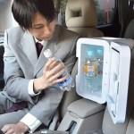 おとしずか冷温庫を車内で使用している