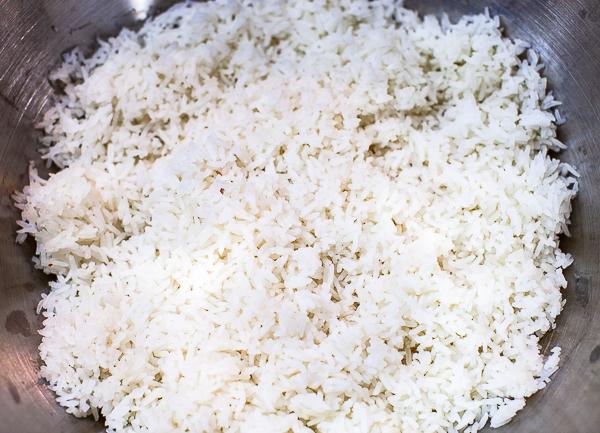 prepared rice in bowl
