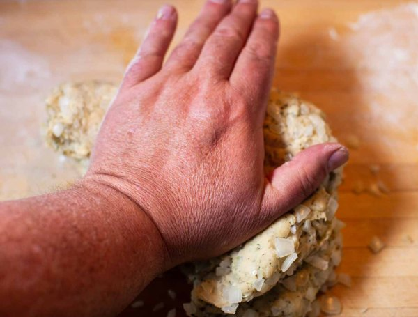 Kneading Swedish Dill Bread