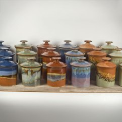 Kitchen Pottery Canisters Latest Design Cabinet Sunset Canyon Handmade From Austin Tx Add Some Style To Your Cooking Space With Our Specially Designed For The