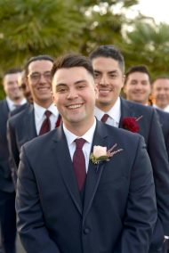 Sunset Gardens Groom and Groomsmen