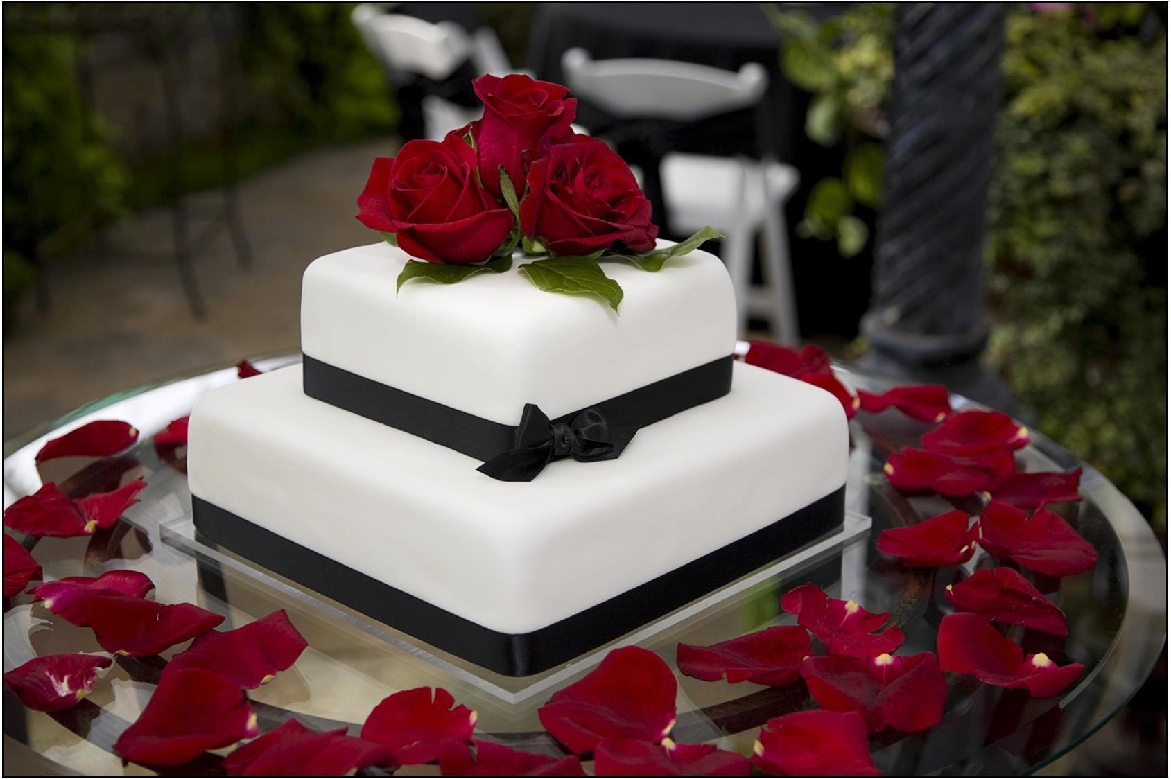 Wedding Cake Lovely Minimalist Modern Two Tier Black And White