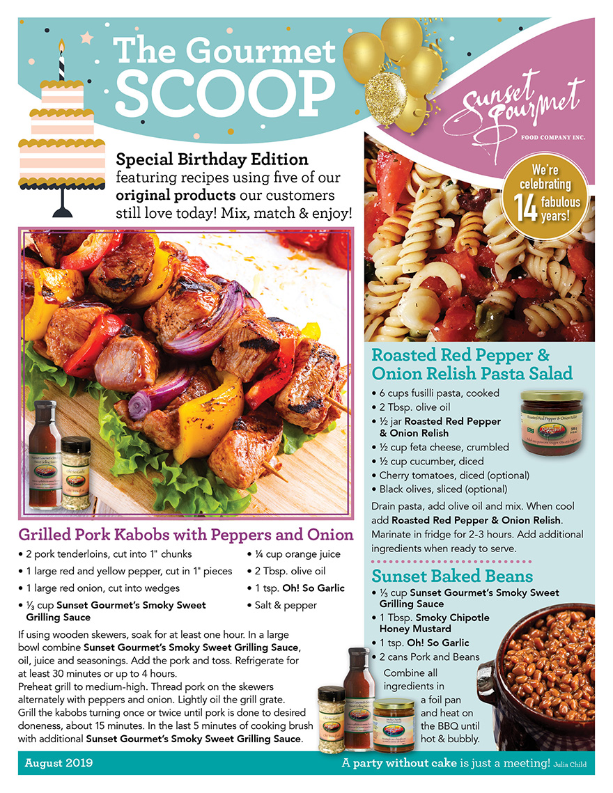 "<span class=""light"">The Gourmet </span>Scoop – August 2019"