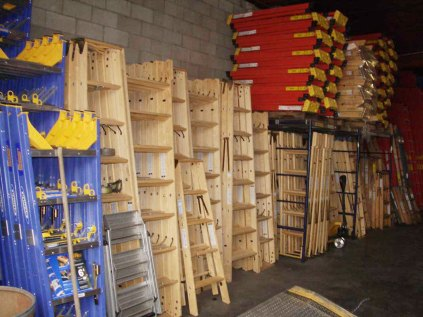 sunset ladder inventory of wood and fiberglass ladders