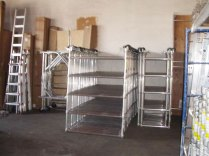 sunset ladder warehouse showing some scaffolding product inventory