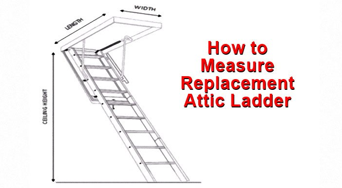 article about how to measure replacment attic ladder