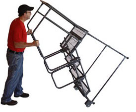 photo showing tilt and roll safety ladder