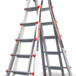 little giant ladders have a flared based for extra support and stability