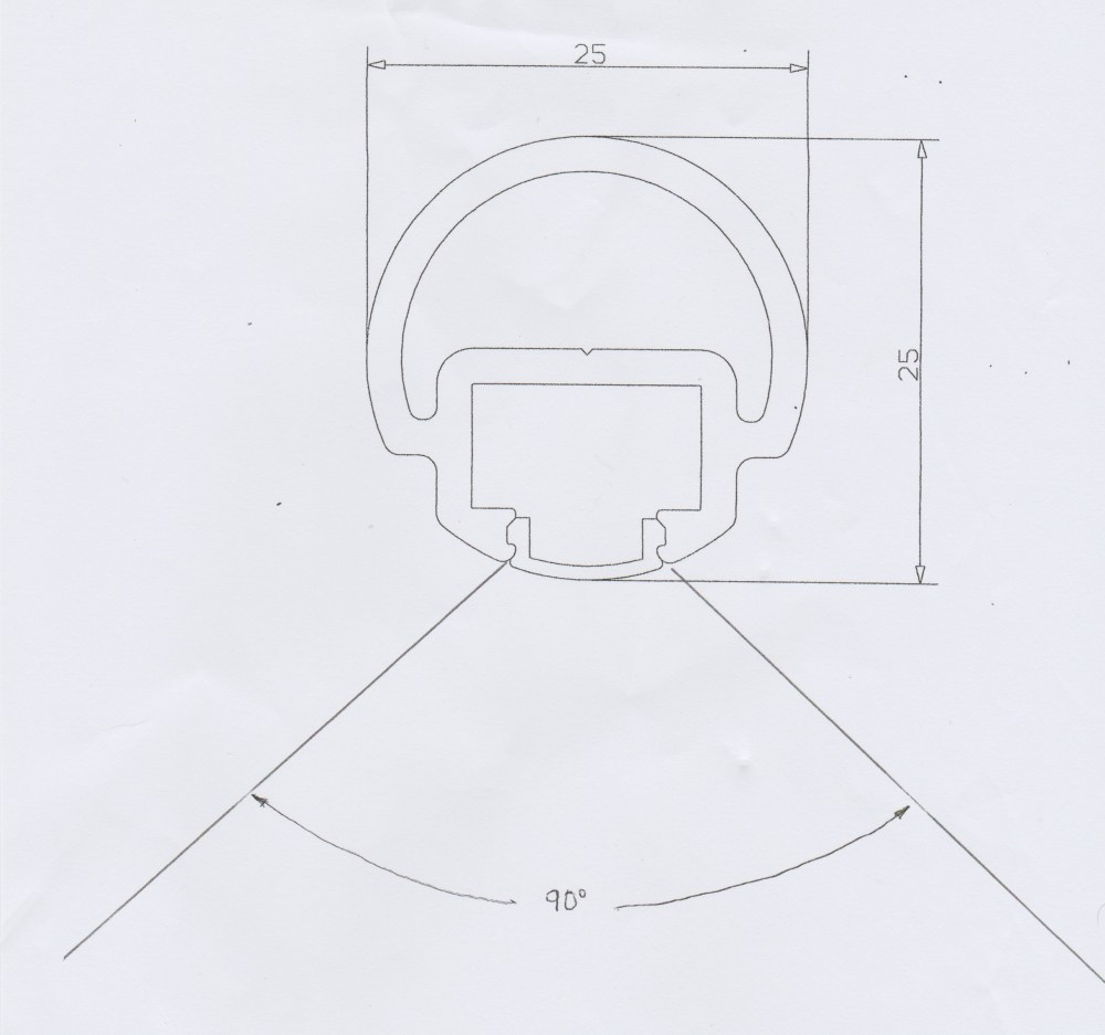 medium resolution of click here to preview a sketch of a pvc unit with a 180 lighting angle and ip ratings of either ip20 or ip64