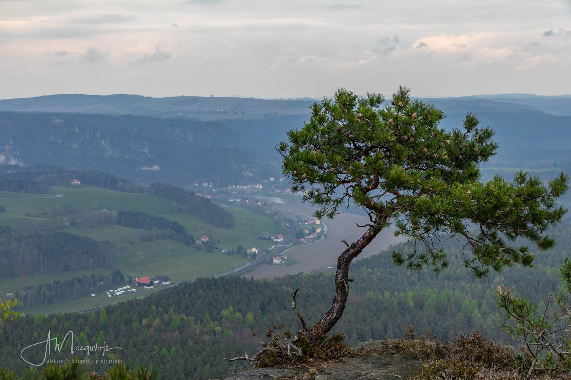 View from the top of Lilienstein