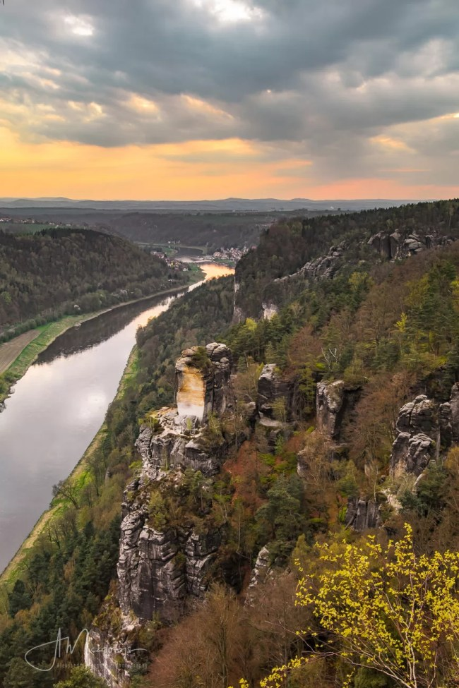 View of the river Elbe, Saxon Switzerland
