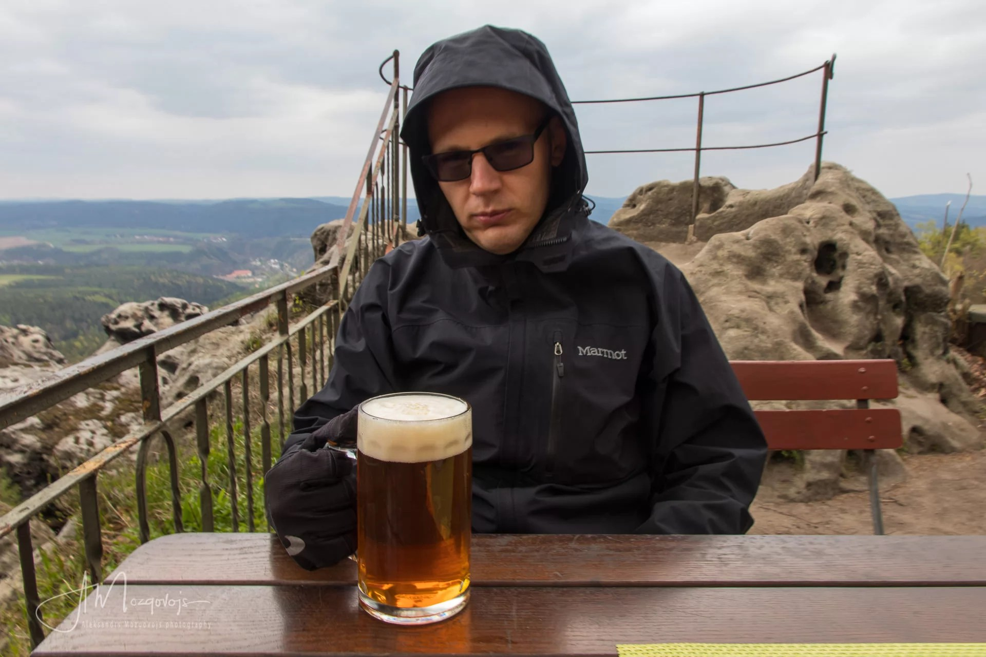 Top of Papstein is a perfect place to enjoy a mug of German beer even when it rains
